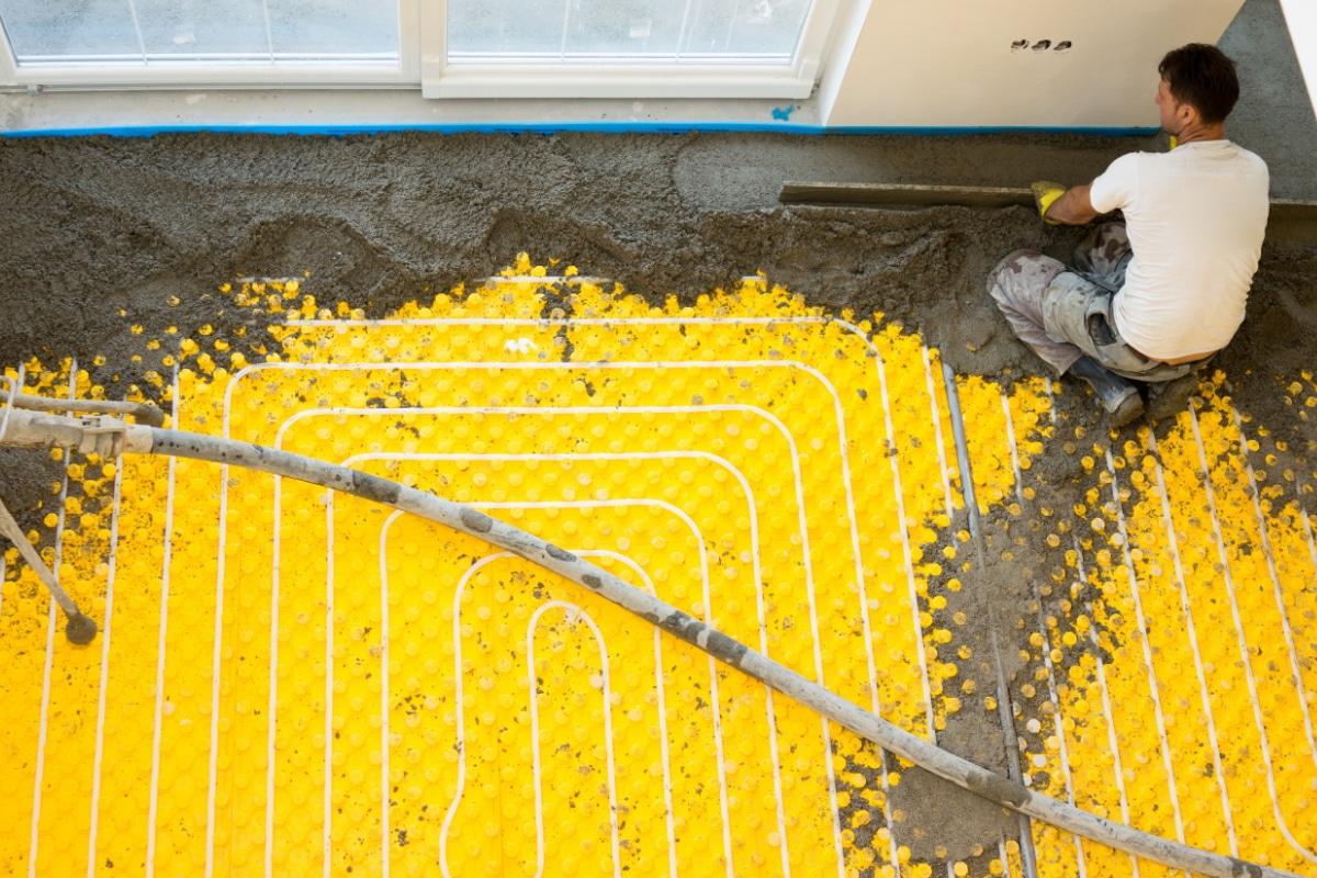 Vloerverwarming leggen onder chappe