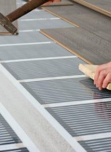 Voorbeeld elektrische vloerverwarming