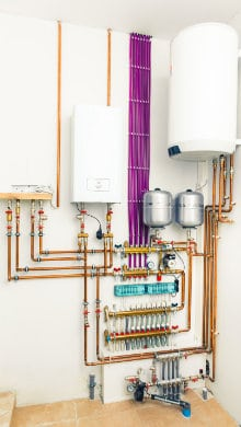 centrale verwarmingsketel met aparte boiler