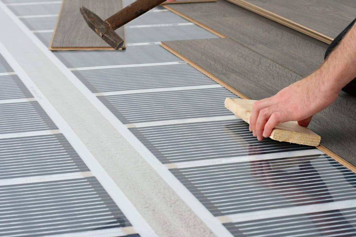 elektrische vloerverwarming met folie