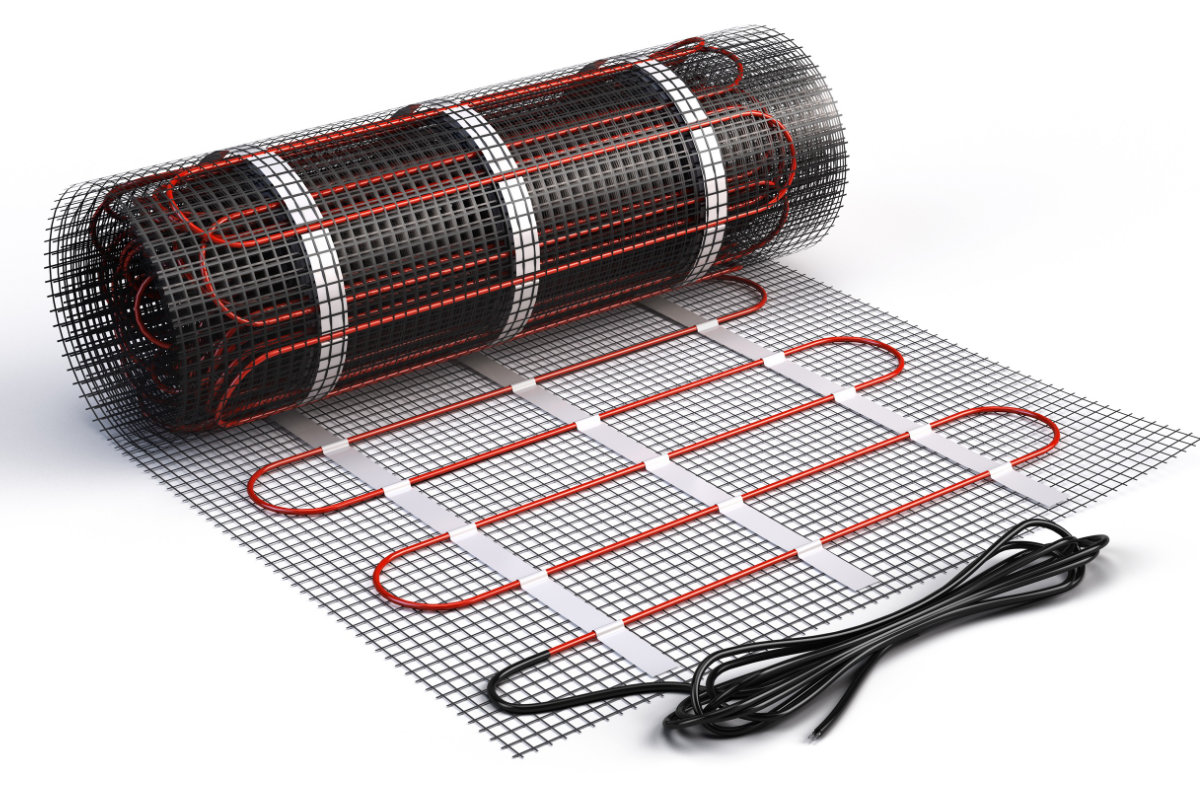 elektrische vloerverwarming met matten