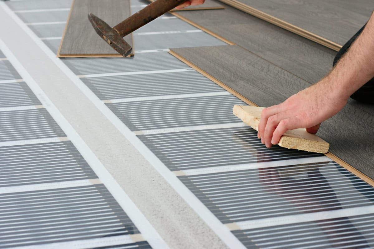 elektrische vloerverwarming met thermostaat